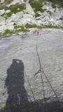 Azalee Beach climbing and shadows