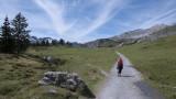 Walking towards Joch Pass