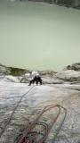 Slab climbing, Handegg
