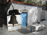 Chapel and bell, Kalymnos, Greece