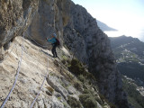 Looking back along Via Ferrata