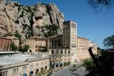 A wide view of Montserrat monastry in its fine setting