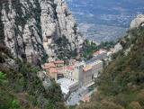 Montserrat monastry from the top of the funicular