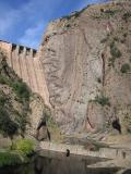 Escales dam and cliff