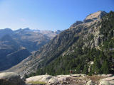High Pyrenees and lone walker