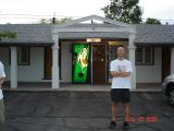 Phil Rosenstein in Front of the El Portal Motel in Beatty, Nevada