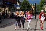 Boys and girls in the center of Uppsala, Sweden
