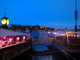 The Oslo Harbor. Bar,restaurants and dancing on the sea under the moonlight
