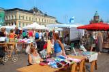 The marketplace. The Helsinki harbor