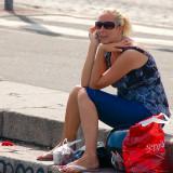 Phone call in square format @ Helsinki harbor