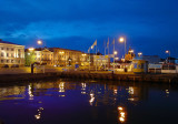 Helsinki by night: the port