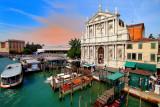 Venezia: the Central Station and the Church of Santa Maria di Nazareth