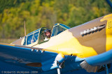 Dave Hadfield taxiing the Kittyhawk onto the ramp following the memorable flight with Stocky in the rear seat.