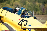 Aviation photo-journalist Eric Dumigan is in the rear seat of a Harvard preparing to photograph Edwards' flight.