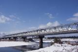 Series N700 at Yasu-River