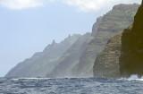 Kaua'i, sailing along NaPali
