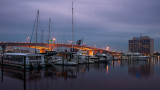 Acosta Bridge and Marina at Dawn