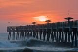 Sunrise over Jacksonville Pier