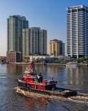 Big Red Tug and Southbank Condos