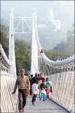 On the Ram Jhula Bridge