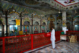 Praying in the Narayan Temple