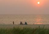 Family Enjoying Sunrise