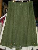 Lace Skirt in progress - back