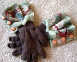 Embellished Glove Cuffs - Finished Pair