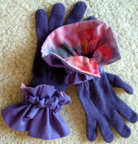 Purple/Batik-Faced Glove Cuffs