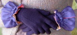 Purple/Batik-Faced Glove Cuffs - as worn