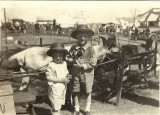 Ed & Pearle Ready for the Goat Driving at the Nebraska State Fair ca. 1925