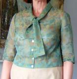Embroidered Organza Little Blouse