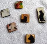 Japanese Cat Buttons