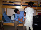 David, Alejandra y papi