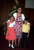 Alejandra, tia Leslie y David