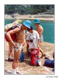 Pantà de la Pobla. Final excursió a Beseit. 1976