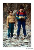 El salt de Fredes. Elisenda i Manel. 1984