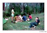 Excursió a Beseit. Partida de cartes a la font Ferrera. 1976