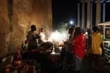The nightly food market, Stone Town