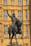 Richard the Lion Heart outside the Palace of Westminster