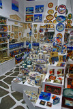 In a tourist shop, Mykonos