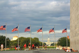 The Washington Monument, and the Capitol across the Mall