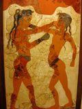 The Minoan Boys boxing