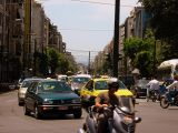 A typical street scene in Athens