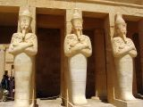 Statues of a bearded Hatshepsut