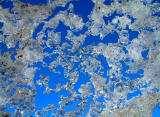 melting snow bank