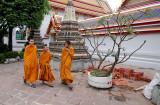 Monks in Wat Pho