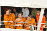 Monks on the river bus