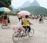 Bicycle tour through Karst scenery