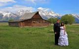 Bride & Groom - Mormon Row